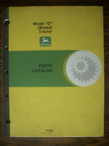 Jd John Deere Model D Styled Parts Manual