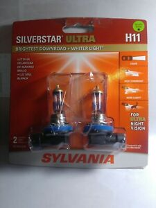 1pr Sylvania Silverstar Ultra H11 High Performance Headlight Bulbs New