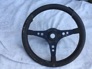 1974 Raid Racemark Steering Wheel With Horn Button And Vw Audi Adapter Hub