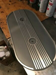 Ford Oval Air Cleaner Cover Finned Alloy Shelby Eleanor Ac 289 427 428 No Logo