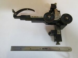 Antique Bausch Lomb Clips Stage Specimen Microscope Part As Pictured a3 b 74