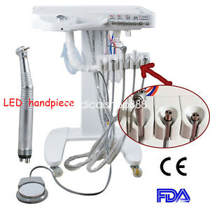Dental Delivery Unit Mobile Cart No Compressor Equipment High Speed Handpiece
