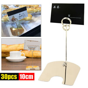 30x Stainless Steel Multi functional Bakery Price Label Sign Card Holder Clip Us