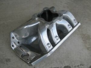 Dart Big Chief Intake Manifold Oval Port Single Carb Big Block Chevy Dominator