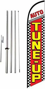 Tune Up Auto Repair Shop Advertising Feather Banner Swooper Flag Sign With 15