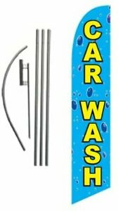 Car Wash Feather Flag Banner Swooper Flag Kit Top Selling Car Wash Signs