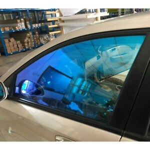 Blue Green Tint 55 Vlt Color Changing Car Home Window Tint Shading Solar Film