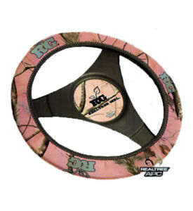 Realtree Girl Steering Wheel Cover Pink Camouflage Neoprene One Size Rg