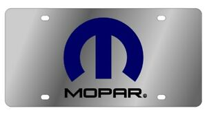 Eurosport Daytona Stainless Steel License Plate Blue Badge For Mopar