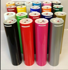 12 Adhesive Vinyl craft Hobby sign Maker cutter 10 Rolls 5 Feet 651
