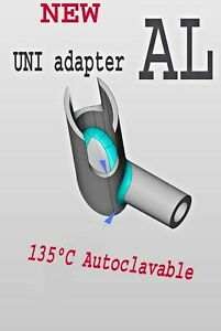 Uni Adapter Aluminum Autoclav connect Isolite Mouthpieces To Suction Handle