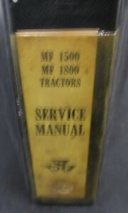 Massey Ferguson Mf 1500 And 1800 Tractor Service Manual