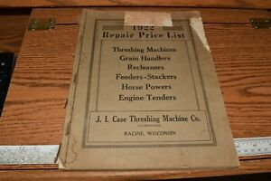 1922 J i Case Farm Equipment Repair Parts Price List Catalog Vtg Racine Wis