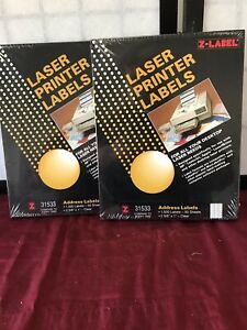 Z label Laser Printer Labels 31533 compare To Avery 5660 2 Boxes