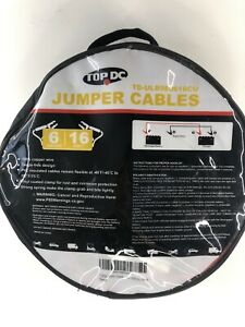Topdc Booster Cables 6 Gauge Jumper Leads 16 Ft Heavy Duty Car Van Truck Suv