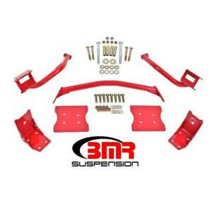 Bmr Suspension Torque Box Reinformement Plate Kit Red For Ford Mustang 1979 2004