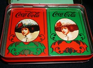 Coca Cola Old Fashioned Playing Card Double Deck~Sealed  Orig.Box  1970s