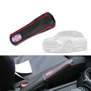 Leather Hand Brake Handle Sleeve Protective Cover Trim For 3rd Gen Mini Cooper