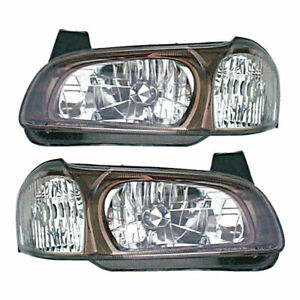 Pair New Left Right Headlight Assembly For Nissan Maxima 2001
