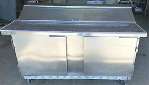 Beverage air 2 Door Bkv Sp60 16c Sandwich Pizza Prep Table Free Ship Watch Video