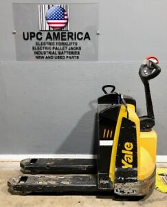 2018 Yale Electric Pallet Jack Mpb045 4 500 Lb Capacity 2018 Batteries Charger