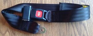 Two 2 Universal Black Lap Seat Belts 74 2 point W red press Button Release