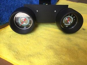 1967 Shelby Mustang Pod With Stewart Warner 2 5 8 Oil Amp Green Line Gauges