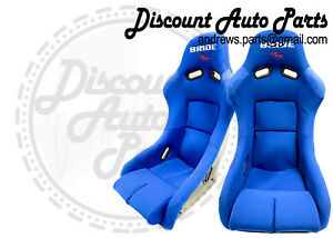Bride Vios 3 Iii Plain Blue Seats Low Max Jdm Bucket Auto X Racing Drift Pair