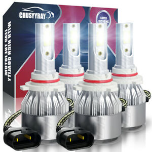 For 2002 2009 Chevy Trailblazer Led Headlight Lamp Combo Us 4pcs 9005 9006 Kit