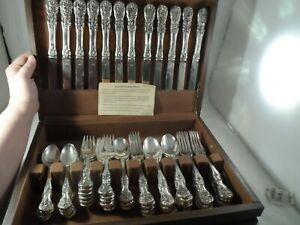 Beautiful Silver Plate F B Rogers Dinner Place Setting