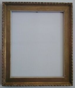 Mid Century Gilded Carved Wood Picture Frame 30 X 24 Wide Moulding Vtg 60s