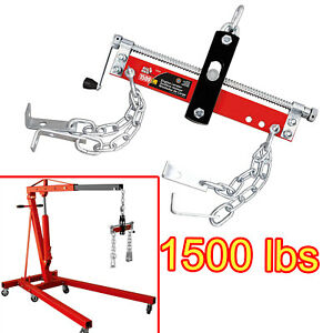 Eag Heavy Duty Engine Hoist Leveler Cherry Picker Shop Crane 1500 Lbs Load Lift