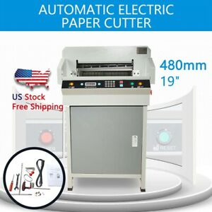 Heavy Duty 480mm 19 Automatic Electric Paper Cutter Paper Cutting Machine