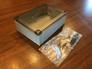 New Fibox Electronics Enclosure Pc150 60 Ht Ip67 With Clear grey Cover