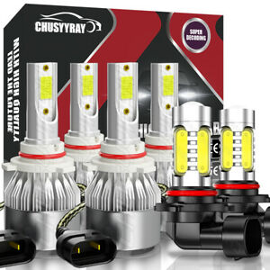 6pcs Combo Led Fog Light Headlight Bulb For Toyota Corolla 2005 2006 2007 2008