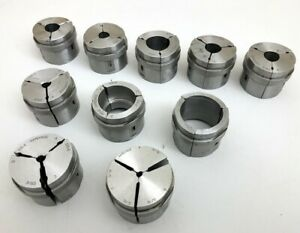 Nice Hardinge Lot Of 10 S15 Assorted Collet Pads