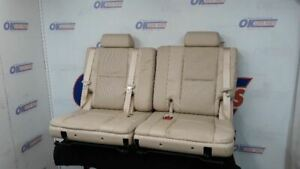 07 Cadillac Escalade Third Row Rear Seat Set Tan Leather