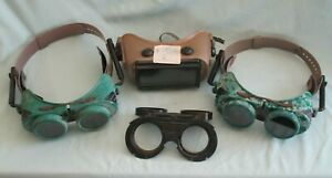 Lot Of Vintage Welding Goggles Lenses Jackson Supergoggle W 70