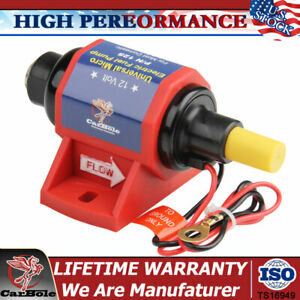 12s Micro Electric Inline Fuel Pump 4 7psi 12v Universal Gas Low Pressure 35gph