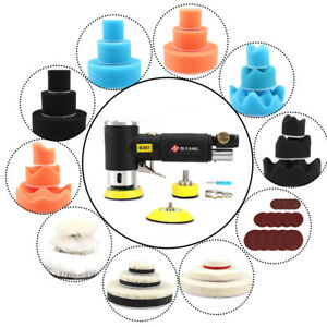 48pcs 2 3 Air Random Orbital Sander Da Pneumatic Angle Polisher Machine New