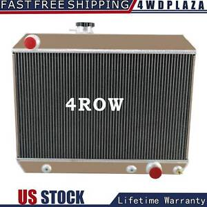 4 Row Aluminum Radiator For 1965 1967 Pontiac Lemans Tempest Gto 5 3l V8 66 65