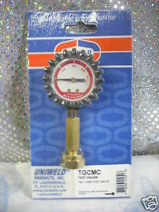 Acetylene mc Tank Contents Test Gauge 0 To Full
