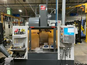 Haas Vf 2 Vmc 2012 4th Axis Rotary Table Wips Thru Spindle Coolant Auger