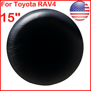 15 Diy Trailer Spare Tire Tyre Wheel Cover Pure Black Heavy Duty Vinyl Material