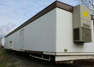 12 X 60 Mobile Construction Crew Trailer With Lockers And Dual Sex Restrooms