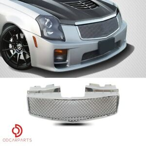 Fits 2003 2007 Cadillac Cts Front Upper Grille Grill Mesh Style Chrome