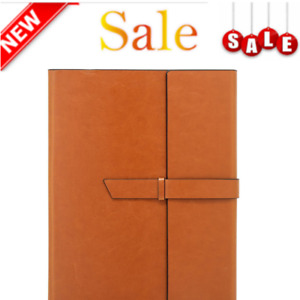 Slim Lightweight Leather Padfolio Portfolio Folder Letter Legal Size Note Book