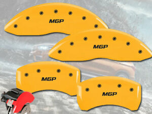 2006 2008 Bmw 750i 750li Front Rear Yellow Mgp Brake Disc Caliper Covers 4pc