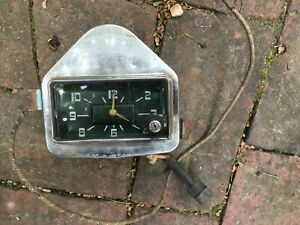 George W Borg Corp 1950 Electric Clock Automobile Truck Car Clock Usa Chicago
