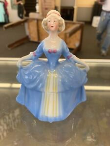 Small Madame Pompadour Dresser Doll Blue Germany